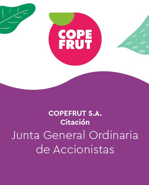 COPEFRUT S.A.-Citación – Junta General ordinaria de accionistas