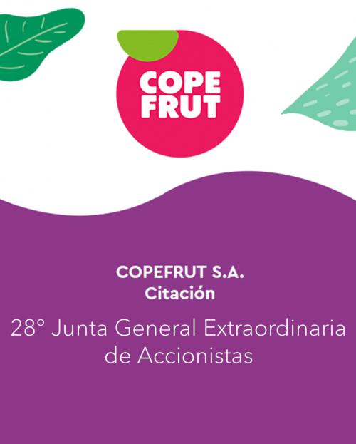 COPEFRUT S.A.-Citación – Junta General Extraordinaria de Accionistas